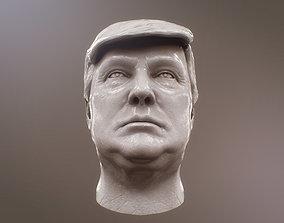 3D asset Donald Trump bust