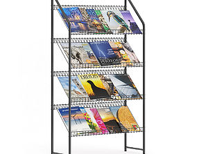 3D model Market Stand with Magazines 4