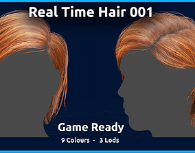 3D asset Real Time Hair 001