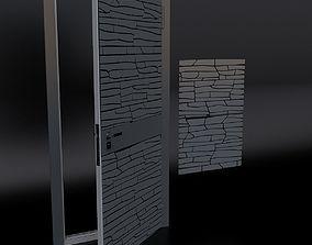 Door 2 and decorative panel 3D