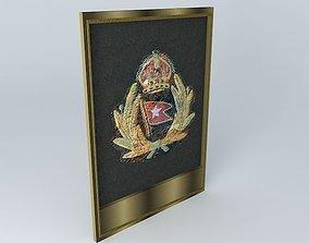 TITANIC Officer Cap Badge Relic 3D model