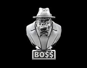 Gorilla bust BOSS 3D printable model
