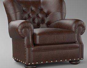 RH CHURCHILL LEATHER CHAIR WITH NAILHEADS 3D model