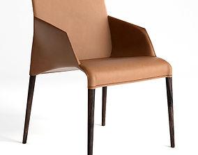 3D model SEATTLE chair Poliform leather