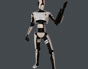 3D model Robot Assasin