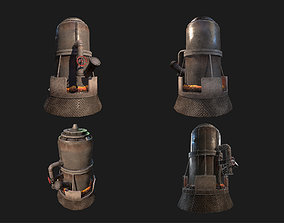 Melting Furnace WWII 3D model