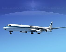 Douglas DC-8-63 Icelandair 3D model