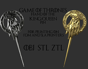 Game of Thrones Hand of the King Pin 3D print model