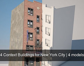 4 Context Buildings for New York City 3D model