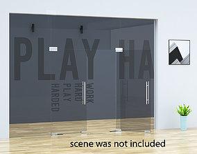 3D model Office Tempered Glass Door