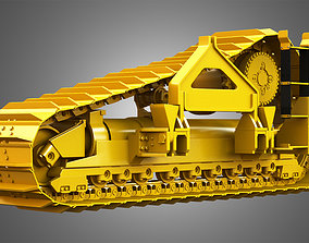 3D model Crawler System - PL83 Pipelayer