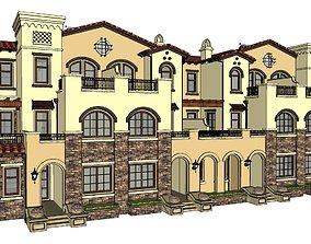 3D model modern house luxury apartments