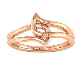 Women ring 3dm render 3D print model gem precious