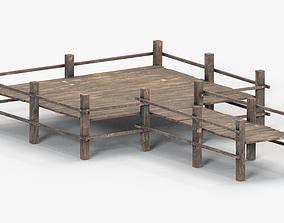 wood port 3D asset