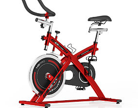 Stationary Spinning Bike 3D