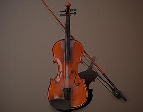 Violin PBR 3D asset