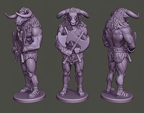 Minotaur Warrior Guard two Axes 3D print model