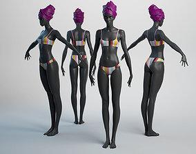 Female Basemesh 05 3D asset