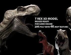 3D asset Trex dinosaur game model Tyrannosaurus