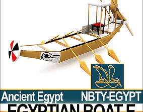 Ancient Egypt Boat E 3D model