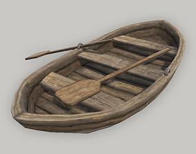 Medieval Row Boat 3D model