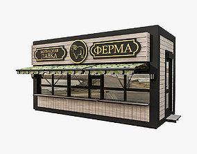 Urban Commercial Pavilion 3D model