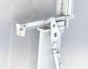 Oblique cylinder push mechanism 3D