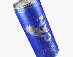 Beverage Can With Water Droplets 473ml Red Bull type 3D