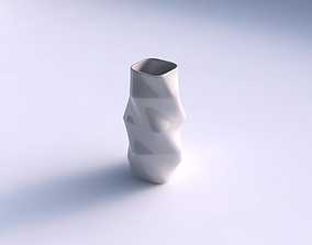 Vase rectangle with horizontal sections 3D printable model