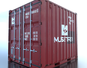 Shipping Container 10ft Rigged 3D asset
