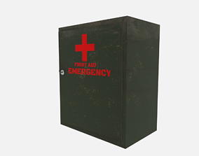 First aid cabinet 3D asset rigged realtime
