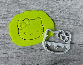 Hello Kitty cookie cutter 3D print model
