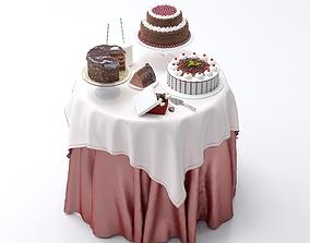 Cakes birthday 3D