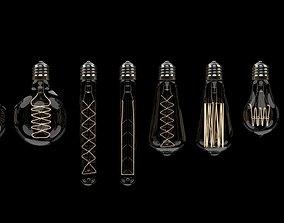 Retro Edison bulbs 3D