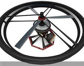 High-End Camera UAV Drone 3D asset animated