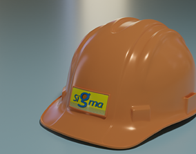 Helmet Safety 3D model low-poly