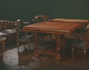 3D asset Vintage furniture set