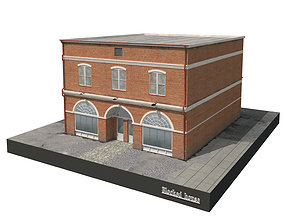 3D model rigged Blocked house