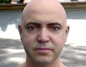 realtime 3d model human head 2
