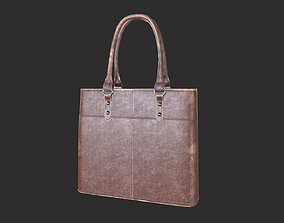 3D model Leather Hand Bag Game-Ready