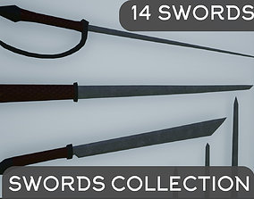 Lowpoly Swords Collection 3D asset