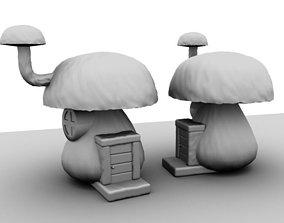 Dreamy Mushroom House 3D asset