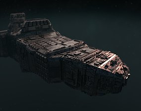Sarcophagus Starship - complete render scene space 3D