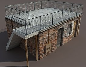 Derelict Building Low poly 3d Model VR / AR ready