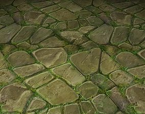 ground stone grass tile 18 3D model