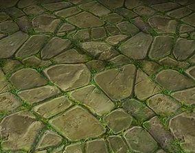 ground stone grass tile 18 3D model