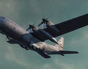 airline Military C-130 Cargo Transport Plane 3D asset