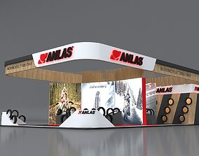 Exhibition Stand 10x16m Height 500 cm 3 Side Open 3D 1