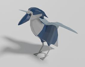 3D asset Cartoon Boat-billed Heron