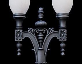 3D Historic Oakland Iron Street Light